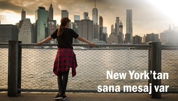 New York'tan sana mesaj var